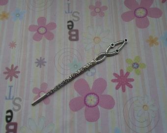 10pcs 132mmx15mm antique silver metal hair stick