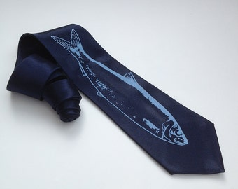Kipper Tie  - Premium Quality Microfiber Necktie - Screen Printed Tie - Gift wrapped - Choose color and quantity