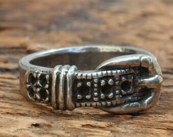 Silver belt ring   Blue Bayer Design NYC