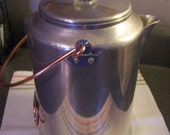 Vintage Aluminum Percolator Coffee Pot, Comet, 20 CUP, Stovetop, Camping, Farmhouse Kitchen