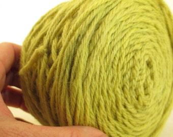 Natural Dye Wool Yarn - Rhubarb Leaf Green - Plant-Dyed Tonal Bulky Peruvian Highland Wool - YAB061515 - 100 grams
