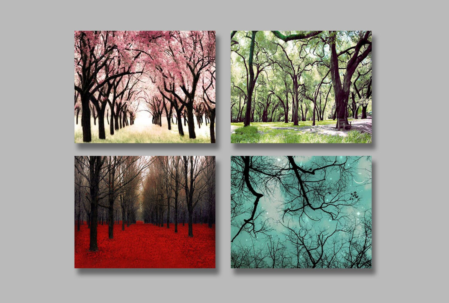 4 seasons wall art 4 photo set of the four seasons by raceytay - Wall decor photography ...