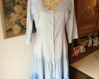 Vintage TOGETHER Faded Blues Summer Dress