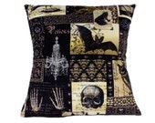 Edgar Allen Poe Inspired Pillow Cover Pillow Case 18 x 18