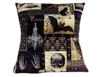 Edgar Allen Poe Inspired Pillow Cover Pillow Case 18 x 18