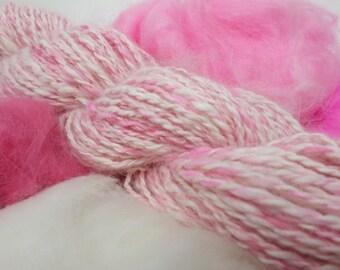 Pink and White Pure Angora Yarn