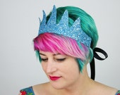 SALE - Glitter Sea Queen Crown Headband, Various Colours - Christmas In July CIJ