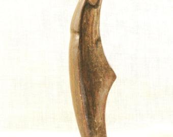 Vintage Folk Art Madonna, Religious Art, Carved Figure, Wood Carving, Religion, Statue, Folk Art Carving , Handmade , Hand Carved