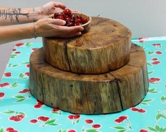 Stump Wedding Cake Stand Centerpiece Pedestal Plate