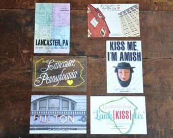 Lancaster, PA Postcard