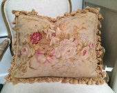 Antique aubusson pillows