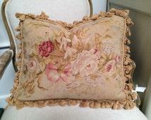 Antique aubusson pillows