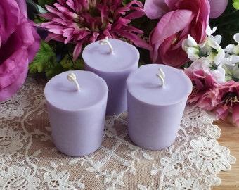 Violet Candles, Votive 3 pack