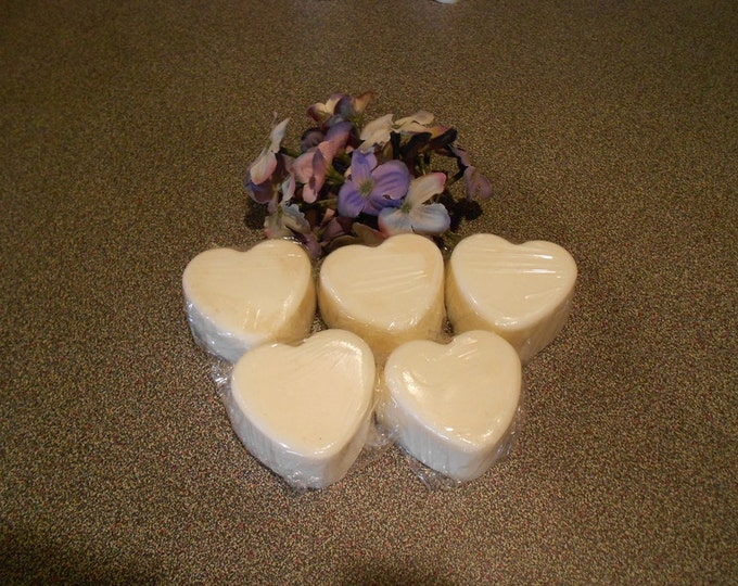 Eight, Scented Heart Shaped Wax Candle Tart Melts, Soy, Valentines Day, Wedding Day, You Choose the Color and Fragrance