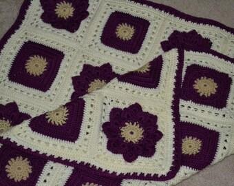 Granny Square Flower afghan