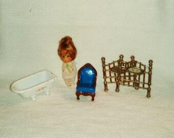 Liddle Kiddles Vintage Assortment Furniture and Doll