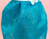 Blue Fish Scale Glitter Tulle Skirt for MSD SD Ball Jointed Doll