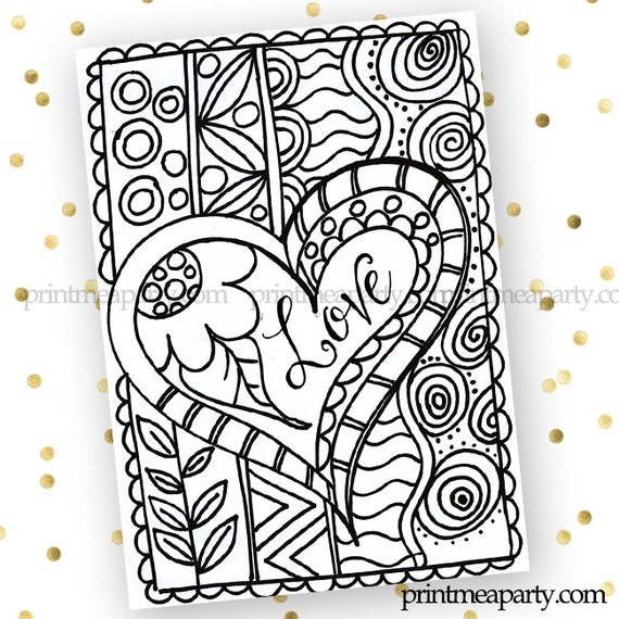 Valentines Day Printable Coloring Page