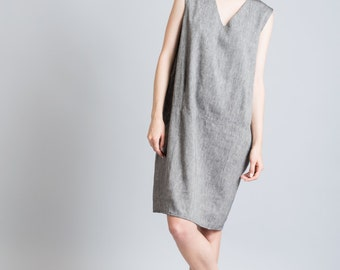Casual Dress / Linen Dress / Loose Dress / Oversized Tunic / Summer Cocktail Dress / Party Dress / marcellamoda - MD146