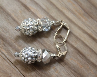 Dangle earrings, Silver colors, # 37 Candy Collection