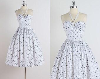 Clover Sky . vintage 1950s dress . vintage dress . 4954