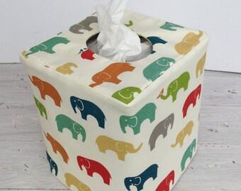 Modern Elephant reversible tissue box cover