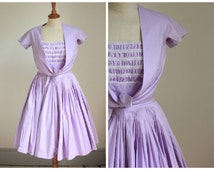 Petite lilac 1950's prom dress Carnegie