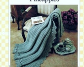 Pineapples Afghan Pattern Shells Lacy Edging V-Stitches Designed by Terry Kimbrough