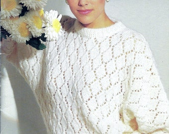 Beehive No. 472 KNITTING BOOKLET Ladies Mens Sweaters Chunky Choice  6 knit patterns  Vintage 1985