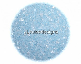 Pastel BLUE SUGAR CRYSTALS Edible Sprinkles, Custom Color Cake,Cakepops, Cookie and Cupcake Sprinkles Confetti Decorations