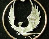 Phoenix Hand Cut Coin Jewelry