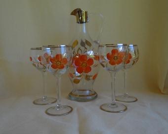 Wine Carafe and Stemware Set