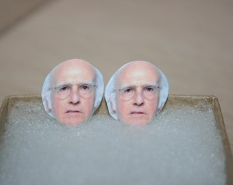 Larry David Seinfeld Curb Your Enthusiasm Post Stud Earrings Celebrity Jewelry