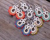 Everyday Colorful Earrings, Turquoise Drop Earrings, Boho Style
