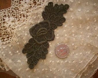 Antique metal embroidered french applique