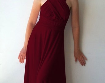 Convertible/Infinity Dress - floor length with long straps