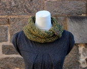 COWL, Green forest cowl, neckwarmer snood, scarf, womens cowl, neckwear, gift for her
