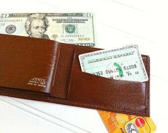 Mens Leather Wallet , Vintage Wallet Men , Bifold Wallet , Card Holder