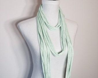 Mint Green Jersey Infinity Scarf