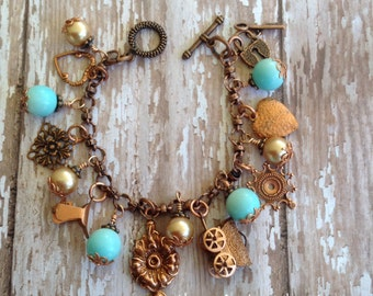 Country Chic .. GiddyUp Charm Bracelet .. Clever Designs by Jann