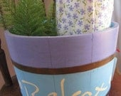 RELAX   Hand Painted Vintage Bucket