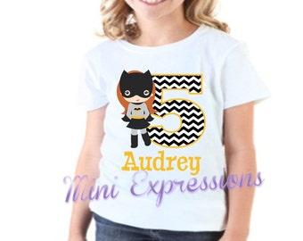 Batgirl Birthday Shirt Personalized