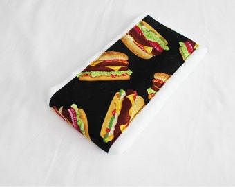 Hamburger Baby Burp Cloth