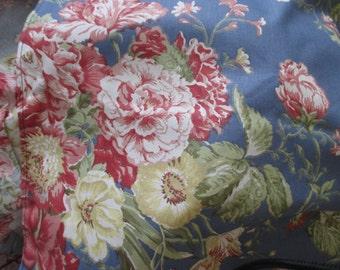 Waverly Garden Room sham - cotton, flowers, pink, blue