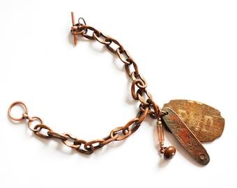 Bronze Found Object Bracelet - by Jen Driver