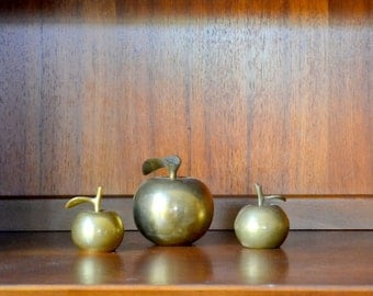 vintage brass apple collection