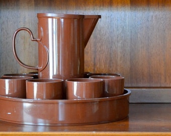 vintage DANSK brown beverage set by gunnar cyren