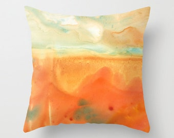 Homesick I Watercolor Throw Pillow Cover
