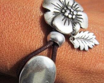 flower bracelets, floral bracelets, spring braceles, happy bracelets, bridal Bracelets, bridal jewelry, bridemais bracelets, bride Bracelet
