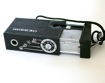 Mini Pocket Camera Kiev 30 Lomo Vintage Camera 1970s 1980s from Russia Soviet Union USSR